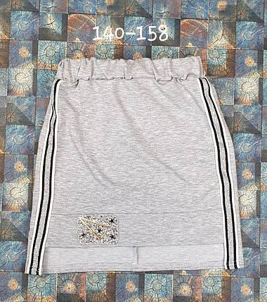 Детская юбка Стиль 140-158 серый, фото 2