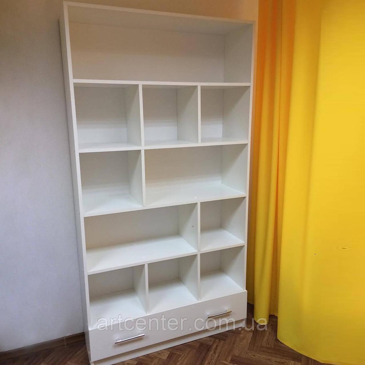 Шкаф с открытыми полочками и 2 выдвижными ящиками