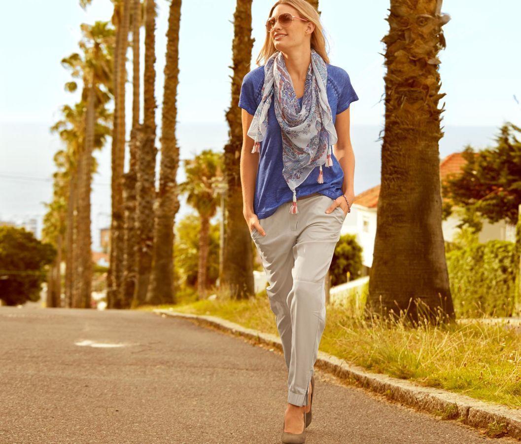 Модные летние женские брючки из лиоцелла Tchibo Германия  Размер 58(UKR)