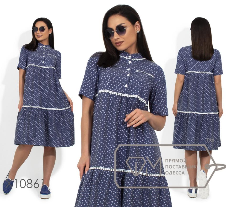 37135d70a88 Джинсовое платье большого размера ТМ Фабрика моды батал Одесса интернет-магазин  одежды р. 48