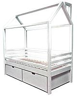 """Кроватка - Домик """"Стандарт S"""", с горизонтальными/вертикальными бортиками и с ящичками ТМ LNK-leader"""