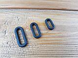 Рамка овальная пластиковая 018238 15мм цвет черный, фото 2