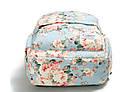 Школьный рюкзак с цветами для девочки Miyahouse голубой (AV188), фото 4