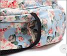 Школьный рюкзак с цветами для девочки Miyahouse голубой (AV188), фото 6