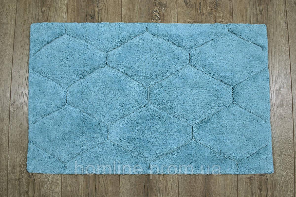 Махровый коврик для ванной Irya Oliver turkuaz бирюзовый 50*80