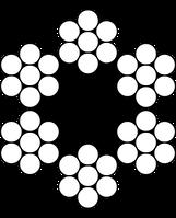 Трос 2мм. DIN 3055 (6x7) (оцинкованный W1) (бухта 100м.) APRO