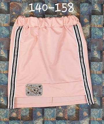 Детская юбка Стиль 140-158 персик, фото 2