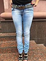 Джинсы AMN женские голубые, фото 1