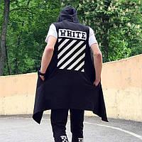 Мантия безрукавка Off White Stripe черная