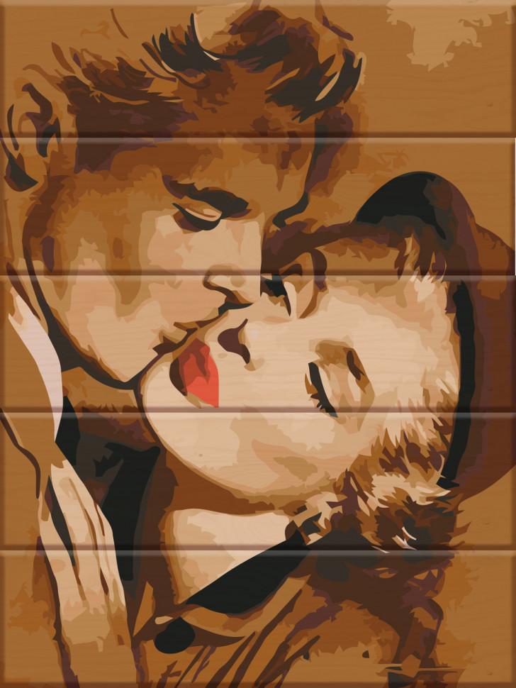 """Картина по номерам по дереву. """"Любовь"""" ASW033"""