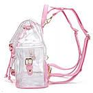 Прозрачный рюкзак в стиле grafea(графеа). Лазерный рюкзак Miyahouse розовый.(AV173), фото 4