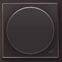 Светорегулятор поворотный 60-500 Вт, антрацит Zenit ABB NIESSEN N2260.2 AN, 2 модуля