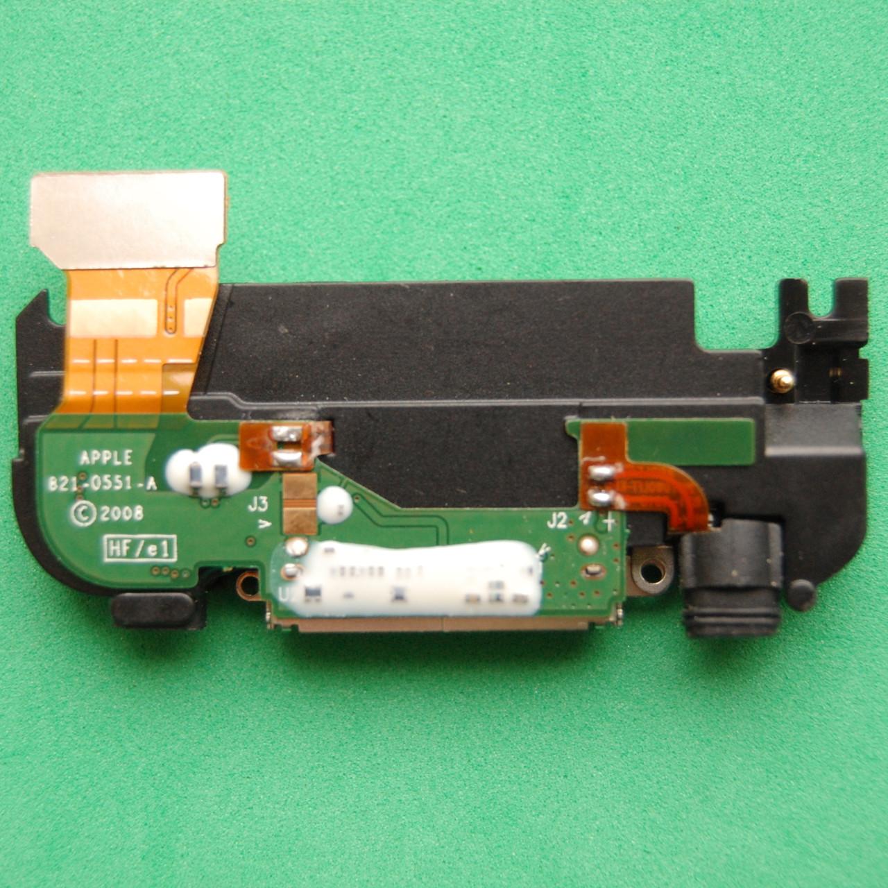Шлейф для Apple iPhone 3g коннектора зарядки, антенны, с компонентами, полный комплект, со звонком white