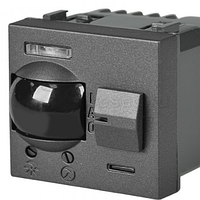 Датчик движения Zenit 3-х проводное подключение, антрацит ZENIT ABB NIESSEN N2241 AN, 2 модуля