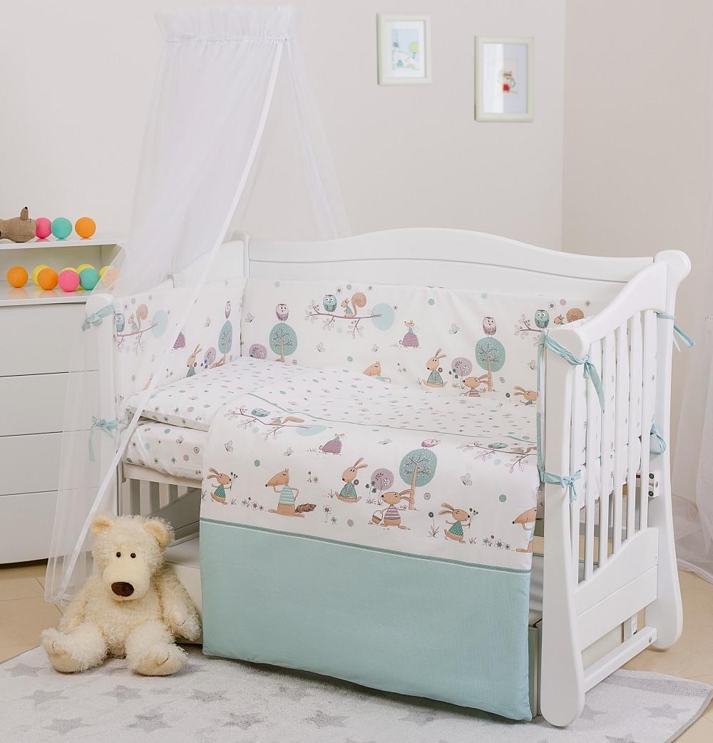 Одеяло подушка постель Twins Eco Line Forest 6 эл мятный (Постіль Twins Eco Line E-011)