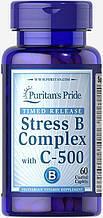 Витамины против стресса, Stress Vitamin B-Complex with Vitamin C-500, Puritan's Pride, 60 таблеток
