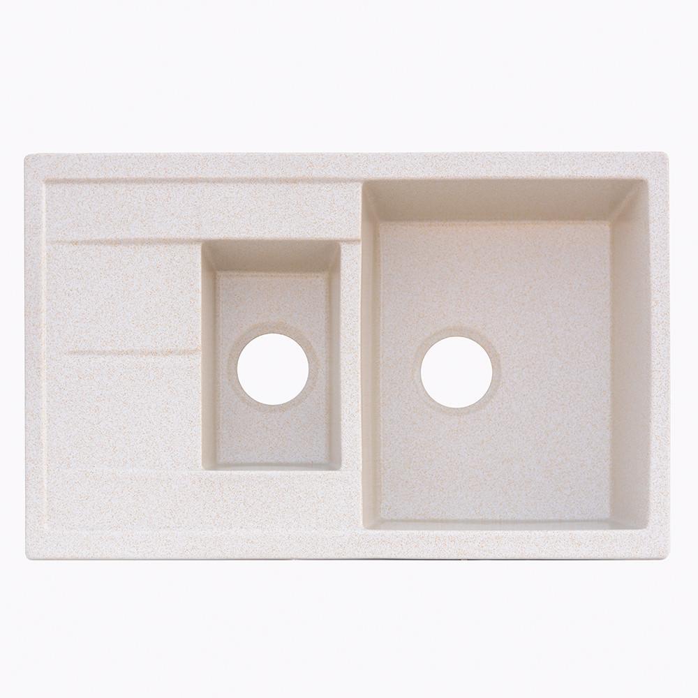 Гранитная мойка Platinum 7850W песок (брак№809)