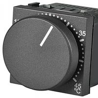 Терморегулятор для теплої підлоги, антрацит Zenit ABB ZENIT N2240.3 AN, 2 модуля