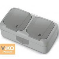 Розетка с заземлением 2-ная ViKO Palmiye 90555588