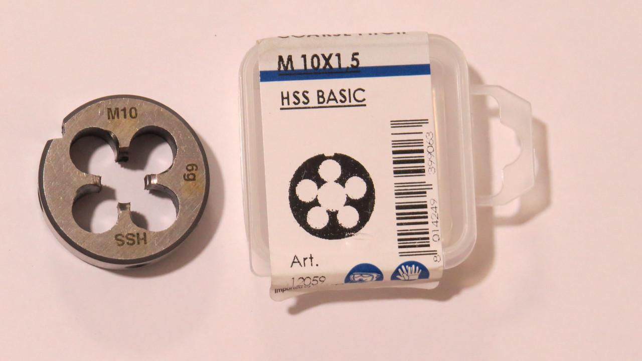 Плашка М10х1,5 Р6М5 для метрической резьбы KRINO Италия