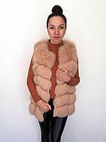 Жилет песцовый Oscar Fur 360-2 Персиковый, фото 1