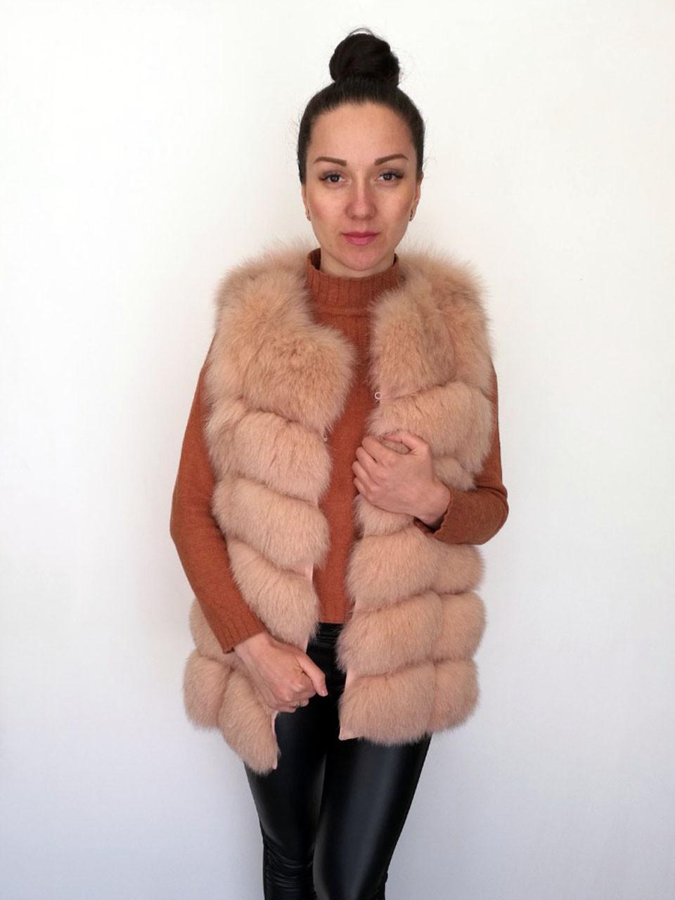 Жилет песцовый Oscar Fur 360-2 Персиковый