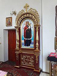 Церковний підлоговий кіот (1200х3200 мм)