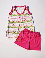 Летняя пижама для девочки (Майка и Шорты) 1,2,3,4,5,6,7,8 лет, фото 1