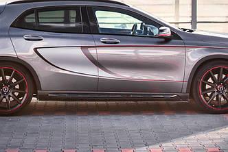 Пороги Mercedes GLA 45 AMG X156 сплиттер обвес