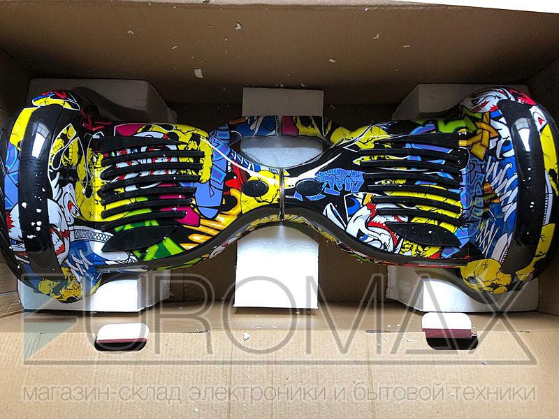 Гироборд 11 дюймов цвет 01 (Граффити череп) BT App автобаланс АКБ Samsung GYR-11-AB-COL01