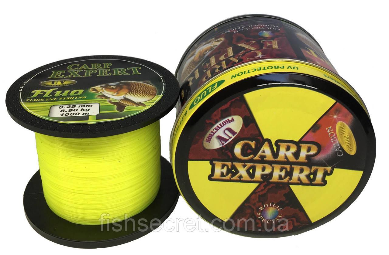 Леска Рыболовная Carp Expert UV Fluo Yellow 1000 м