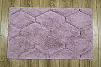 Махровый коврик для ванной Irya Oliver pembe розовый 50*80