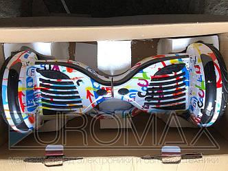 Гироборд 11 дюймов цвет 07 (Граффити белое) BT App автобаланс АКБ Samsung GYR-11-AB-COL07