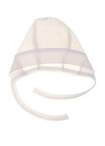 Чепчик для новорожденных на завязках