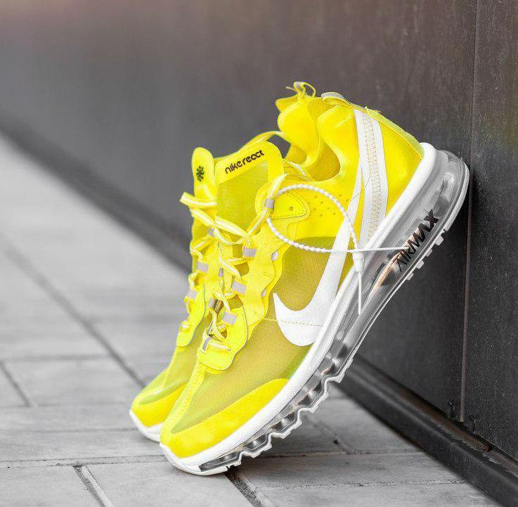 cheap for discount f7f88 37ca2 Nike Air Max 2017 x React Element 87 Yellow   кроссовки мужские; летние;  желтые