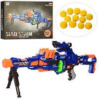 Автомат с мягкими пулями Blaze Storm 7090: размер 71см, мягкие пули 12шт