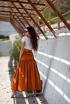 """Длинная летняя хлопковая юбка """"Генуя"""" с поясом, фото 3"""