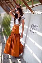 """Длинная летняя хлопковая юбка """"Генуя"""" с поясом, фото 2"""