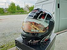 Мотошлем FXW HF-110 черный глянец с рисунком, фото 3