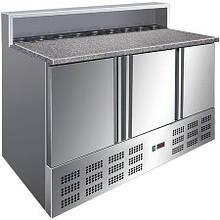Стол холодильный для пиццы с гранитной столешницей и салат-баром 1365*700 Rauder SRP S903