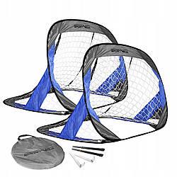 Складные футбольные ворота SportVida 115 x 75 см серо синего цвета