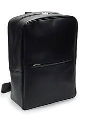 Мужской рюкзак из экокожи чёрный для ноутбука (50-00)