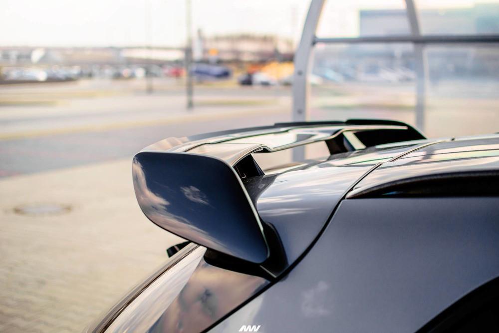 Накладка на спойлер тюнинг Mercedes GLA 45 AMG X156