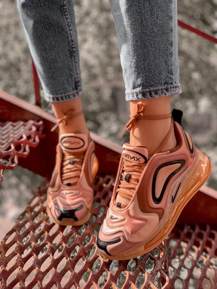 Женские кроссовки Nike Air Max 720 Gold, Реплика