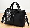 Женские кожаные сумки Черный, фото 3