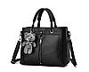 Женские кожаные сумки Черный, фото 6