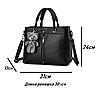 Женские кожаные сумки Черный, фото 7