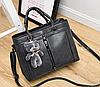 Женские кожаные сумки Серый, фото 2