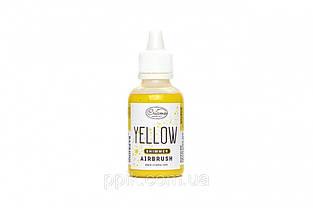 Краситель для аэрографа Criamo Shimmer перламутровый Желтый 60 грамм