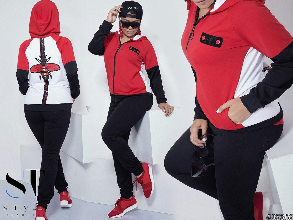 b3f3dfe3eb97 Женский спортивный костюм турецкая двух нитка на спине шеврон вышивка Мушка  пайетка 42-44 44